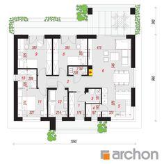 Dom w kostrzewach 3 Dream House Plans, Design Case, Pergola, Floor Plans, How To Plan, Dreams, Home Decor, Blue Prints, House