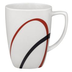 Fine Lines 12 Oz. Mug (Set of 4)