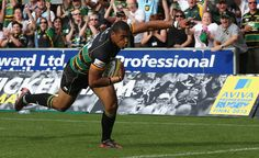 Luther Burrell Photos Photos: Northampton Saints v Exeter Chiefs - Aviva Premiership Exeter Chiefs, Northampton Saints, Saints Vs, Challenge Cup, Rugby, Challenges, Running, Wall, Sports