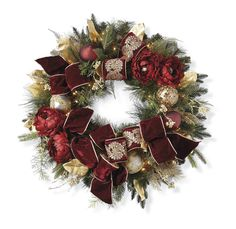 Parisian Christmas Pre-Decorated Wreath - ELLEDecor.com