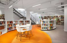 Bolon flooring in the Goethe-Institut library in Warsaw, Poland