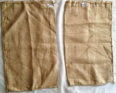 Five Burlap Coffee Jute Sacs (blank)  Perfect for craft or gardening projects! Only at WitiDirect!