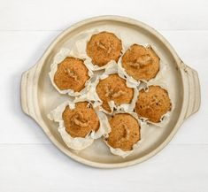 Looking for some delicious breakfast snacks? These nutritionally-balanced, easy-to-bake protein muffins from our expert nutritionist Linia Patel are too delicious too resist. They make great post-workout fuel too! Pumpkin Protein Muffins, Banana Oat Muffins, Sweet Potato Muffins, Cinnamon Muffins, Healthy Muffins, Apple Cinnamon, Cornbread Mix, Breakfast Snacks, Banana Breakfast