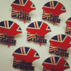 Check out these fantastic pin badges for Equestrian Team GBR. #horses #teamGBR #unionjack #badges #riding pinbadges