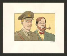 André Juillard - Blake et Mortimer, illustration originale i