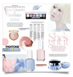 """Pantone Beauty: Rose Quartz and Serenity"" by orietta-rose ❤ liked on Polyvore featuring beauty, Thierry Mugler, Too Faced Cosmetics, Estée Lauder, Essie, NARS Cosmetics, Stila, Beauty and pantonebeauty"