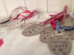 Spoon head Xmas tree decorations.. Hand stamped £5