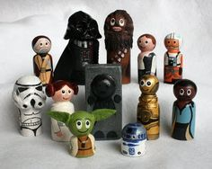 Made from wooden peg people things...ok So I posted this on kiddo stuff, but really I WANT THEM!!!