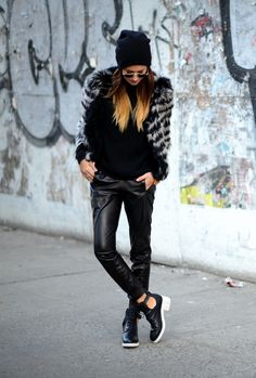 beanies. Leather. Faux fur. Cut out boots