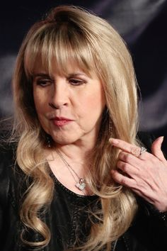 Stevie ~ ☆♥❤♥☆ ~ with a new straight fringe looking a little weary; photo taken during Fleetwood Mac's 2014 - 2015 world-wide 'On With The Show' tour; I saw her and the other four members of Fleetwod Mac on November 12th, 2015 at the Entertainment Centre in Brisbane Australia ~ https://en.wikipedia.org/wiki/On_with_the_Show_(concert_tour)