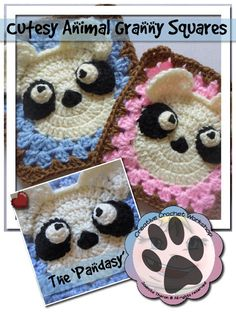 Creative Crochet Workshop: The Pandasy Granny Square, free crochet pattern