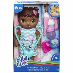 Baby Alive Better Now Bailey Baby Doll - African American Baby Doll Nursery, Baby Girl Toys, Toys For Girls, My Baby Girl, Baby Born, Baby Doll Car Seat, Baby Doll Diaper Bag, Muñeca Baby Alive, Baby Alive Dolls