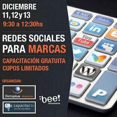 ¿Querés ser parte de nuestra próxima #Capacitación intensiva sobre comunicación en #RedesSociales para #Marcas? ¡Sorteamos 20 entradas! Preinscribite en https://eventioz.com.ar/e/capacitacion-en-redes-sociales--2