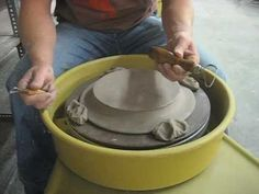 Ben Clark from FUNKe Fired Arts in Cincinnati, OH shows you how to trim those plates! The tools in this video are available for sale at our webstore at: http. Ceramic Tools, Ceramic Clay, Ceramic Artists, Ceramic Plates, Ceramic Pottery, Pottery Art, Pottery Wheel, Pottery Shop, Pottery Lessons