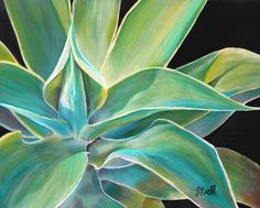 Agave Plant Wall Art - Foregone Conclusion Painting