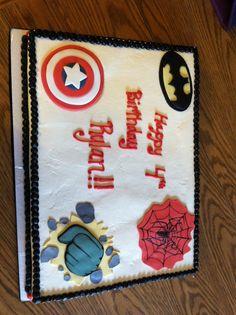 1st Birthday Cakes Superhero For Boys Superheroes