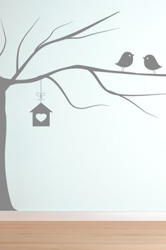 2 birds and a tree #wall #stickers #decals #vinyl #decor