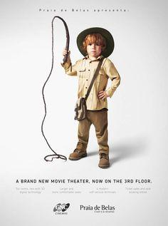 Un centre commercial Brésilien a décider de promouvoir le lancement de son nouveau cinéma en recréant des personnages célèbres du cinéma, mais en version enfant !