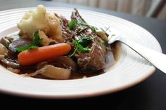 Slow Cooker Pot Roast Recipe with Red Wine and Brandy from Tasty Eats at Home [via Slow Cooker from Scratch] #SlowCooker #DairyFree