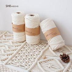 Macrame Cord, Natural Macrame Macrame rope for Boho decor, Macrame wall hanging Macrame Supplies, Macrame Projects, Macrame Bag, Macrame Cord, Crafts To Make, Diy Crafts, Wall Hanging Crafts, Wish Bracelets, Cotton Rope