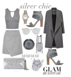 """silver chic"" by dalma-pothorszki ❤ liked on Polyvore featuring Miss Selfridge, Splendid, Rolex, BCBGMAXAZRIA, Fendi, Topshop and Maison Margiela"