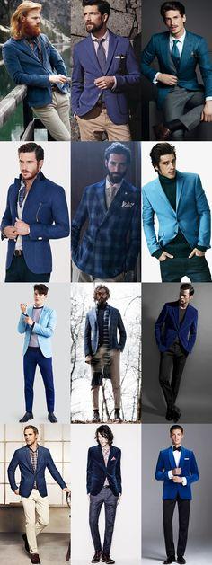 2014 Autumn/Winter Blue Trend : Blue Blazers Lookbook Inspiration