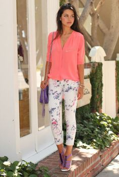 A colorful chiffon top is a timeless look for the summer season. It's perfect for both the daytime and evenings!
