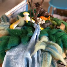 All the animals gather to drink. No rainforest, no water. Hand made felted rainforest, upcycled fabric and branch for imaginative play. Imaginative Play, Upcycle, Drinks, Create, Water, Fabric, Handmade, Animals, Instagram