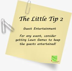 🌸Tip - Guest Entertainment🌸 Lawn Games, Facebook Sign Up, Entertainment, Tips, Advice, Hacks, Counseling