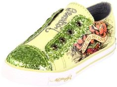 Ed Hardy sparkly toddler shoes.. LOVE