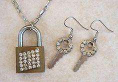 My Salvaged Treasures: Repurposed Keys and Vintage Jewels