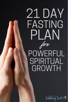 21 Day Fasting Plan For Powerful Spiritual Growth | Spiritual Fasting | Daniel Fast | Prayer