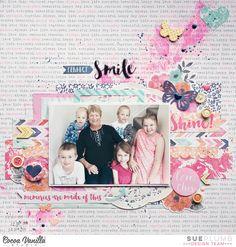 Perfect Smile   Free Spirit layout   Sue Plumb