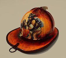 Hand Painted Firefighter Helmet Fire Helmets Pinterest