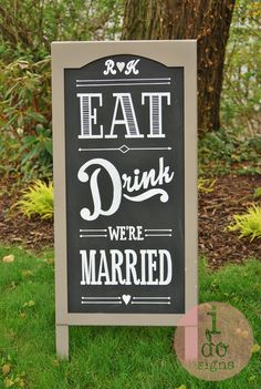 Custom Chalkboards Sign Art For Weddings Events Business Homes