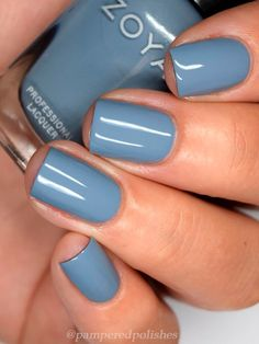 Fall Toe Nails, Fall Nail Polish, Fall Manicure, Zoya Nail Polish, Nail Polish Colors, Dip Nail Colors, Toe Nail Color, Cream Nails, Blue Nails