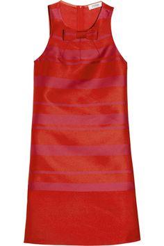 Striped satin shift dress by Sonia by Sonia Rykiel Idé; kombinere lilla/svart stripete stoff enten med svart eller lilla ensfarget til skjørt el. kjole