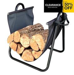 The #Landmann Firewood Log Holder easily transports and stores wood neatly by the fireplace.  Sturdy canvas carrier with large handles for easy transport.