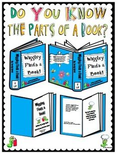 This is a great unit to help teach the parts of a book to your younger students. I usually teach the parts of a book early on in the school year with my PreK, Kinder and 1st grade students, but spend the entire year reviewing it with each new book that we read.
