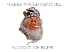 Give credit to the Elf's! Hope he gives them a Christmas bonus! #christmas   #Elfpower   #Santa   #ornaments   https://www.etsy.com/shop/HangingTheOrnaments