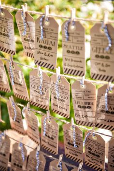 Escort Cards | On SMP | Photography: B&G Photography