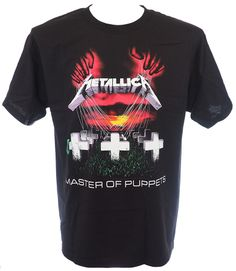 """Brand: Alstyle, Front Print: Yes, Back Print: Yes.  Metallica is an American heavy metal band from Los Angeles, California. The band's fast tempos, instrumentals, and aggressive musicianship placed them as one of the founding """"big four"""" of thrash metal alongside Slayer, Megadeth, and Anthrax. Metallica was formed in 1981 when James Hetfield responded to an advertisement that drummer Lars Ulrich had posted in a local newspaper."""
