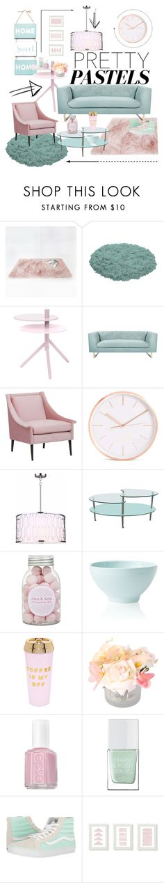 """""""pastel deco"""" by missiybe ❤ liked on Polyvore featuring interior, interiors, interior design, home, home decor, interior decorating, Bloomingville, Nimbus, Walker Edison and Vietri"""
