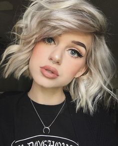 Blonde cropped hair
