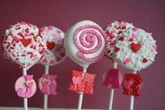 Oreo Lollipops go to with the home-made valentine's day cards!