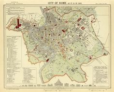 Vintage map of Rome.