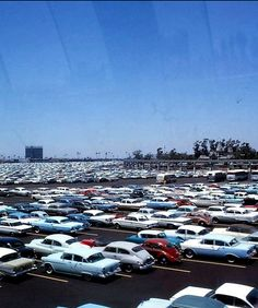 1960s Disneyland Parking Lot -- It's unlikely that you'll see any Ford Falcons if you park at Disneyland these days, but the crowded parking still exists.