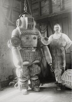 Old time diving suit :)