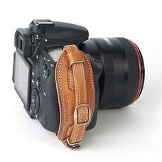 Herringbone Heritage Leather Hand Grip Strap Camel Brown Type 2 for DSLR Camera | eBay