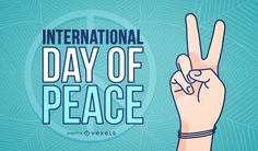 International Day of Peace design featuring an illustrated peace symbol. This design also says International Day of Peace.